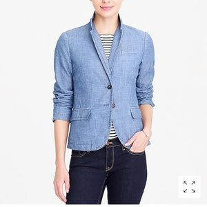 J.crew factory chambray blazer 18 plus size